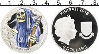 Изображение Монеты Кирибати 5 долларов 2016 Серебро Proof Монстры. Смерть