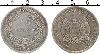 Изображение Монеты Уругвай 50 сентесим 1893 Серебро XF