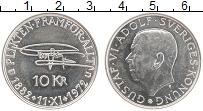Изображение Монеты Швеция 10 крон 1972 Серебро UNC- Густав VI Адольф 90