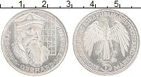 Изображение Монеты ФРГ 5 марок 1969 Серебро UNC- Герхард Меркатор, F