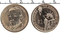 Изображение Монеты США 1 доллар 2012 Латунь UNC Бенджамин Гаррисон