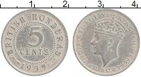 Изображение Монеты Гондурас 5 центов 1939 Медно-никель VF Георг VI