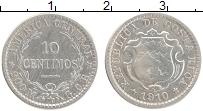 Изображение Монеты Коста-Рика 10 сентим 1910 Серебро XF