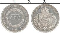 Изображение Монеты Бразилия 200 рейс 1856 Серебро XF Петрус II