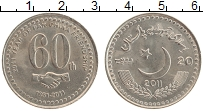 Изображение Монеты Пакистан 20 рупий 2011 Медно-никель UNC 60 лет дружбы Пакист