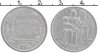 Изображение Монеты Полинезия 1 франк 1993 Алюминий XF