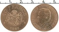 Изображение Монеты Монако 10 франков 1981 Бронза UNC Ренье III