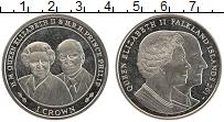 Изображение Монеты Фолклендские острова 1 крона 2017 Медно-никель UNC Елизавета II и Принц