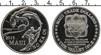 Изображение Монеты Гавайские острова 2 доллара 2015 Медно-никель UNC Остров Мауи. Серфинг