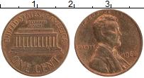 Изображение Монеты США 1 цент 1968 Бронза UNC- Авраам Линкольн