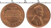 Изображение Монеты США 1 цент 1970 Бронза UNC- Авраам Линкольн