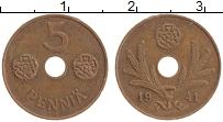 Изображение Монеты Финляндия 5 пенни 1941 Бронза XF