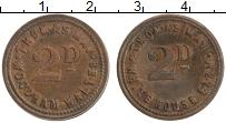 Изображение Монеты Великобритания 2 пенса 0 Бронза XF Жетон