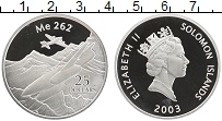 Изображение Монеты Соломоновы острова 25 долларов 2003 Серебро Proof Елизавета II. Самоле