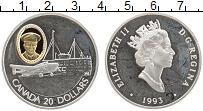 Изображение Монеты Канада 20 долларов 1993 Серебро Proof- Елизавета II. Самоле