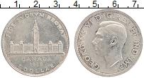 Изображение Монеты Канада 1 доллар 1939 Серебро XF Георг VI. Королевски