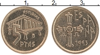 Изображение Монеты Испания 5 песет 1995 Латунь UNC Астурия
