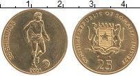 Изображение Монеты Сомали 25 шиллингов 2001 Латунь XF Футбол