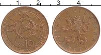 Изображение Монеты Чехия 10 крон 2000 Медь UNC- Миллениум