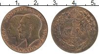 Изображение Монеты Канада Жетон 1927 Бронза XF 60 лет конфедерации