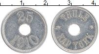 Изображение Монеты Гренландия 25 эре 1910 Алюминий XF Токен торговой станц