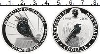Изображение Монеты Австралия 1 доллар 2020 Серебро Proof 30 лет чеканки 1-дол