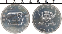 Изображение Монеты Макао 100 патак 1985 Серебро UNC- Год быка