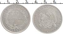 Изображение Монеты Уругвай 50 сентесим 1894 Серебро XF-
