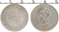 Изображение Монеты Бразилия 500 рейс 1889 Серебро XF