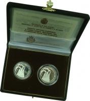 Изображение Подарочные монеты Сан-Марино Олимпийские игры 1984 года 1984 Серебро Proof