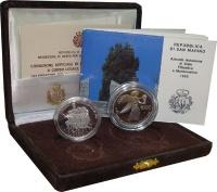 Изображение Подарочные монеты Сан-Марино Чемпионат мира по футболу 1990 1990 Серебро Proof