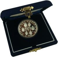 Изображение Подарочные монеты Ватикан 500 лир 1999 Серебро Proof
