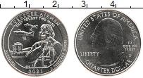 Изображение Мелочь США 1/4 доллара 2021 Медно-никель UNC D Дж. Вашингтон. Нац