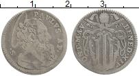 Изображение Монеты Ватикан 1 гроссо 1744 Серебро VF Бенедикт XIV