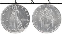 Изображение Монеты Ватикан 2 лиры 1958 Алюминий UNC- Пий XII
