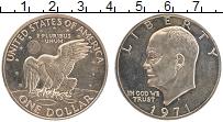Изображение Монеты США 1 доллар 1971 Медно-никель Proof- Дуайт Эйзенхауэр (S)