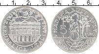 Изображение Монеты Италия 5 евро 2004 Серебро UNC 100 лет опере Мадам