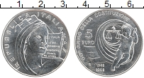 Изображение Монеты Италия 5 евро 2008 Серебро UNC 60 лет Конституции И