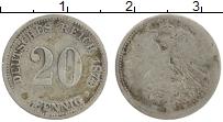 Изображение Монеты Германия 20 пфеннигов 1874 Серебро VF Н