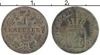 Изображение Монеты Бавария 1 крейцер 1868 Серебро VF