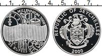 Изображение Монеты Сейшелы 25 рупий 2000 Серебро Proof Миллениум