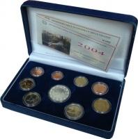 Изображение Подарочные монеты Италия 50-лет итальянскому телевидению 2004  Proof Подарочный набор пос