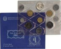Изображение Подарочные монеты Италия Выпуск 1981 года 1981  UNC Представляем Вам вып