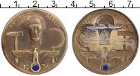 Изображение Монеты Третий Рейх Значок 1934 Бронза XF Знак День труда