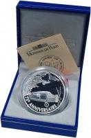 Изображение Подарочные монеты Франция 1 1/2 евро 2002 Серебро Proof `75 лет Первому тран