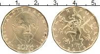 Изображение Монеты Чехия 20 крон 2019 Латунь UNC Алоис Рашин