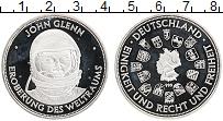 Изображение Монеты Германия Жетон 0 Серебро Proof- Космонавт Джон Гленн