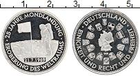 Изображение Монеты Германия Жетон 1994 Серебро Proof 25 лет высадке на Лу