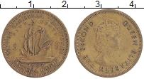 Изображение Монеты Карибы 5 центов 1962 Латунь XF Елизавета II