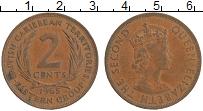 Изображение Монеты Карибы 2 цента 1965 Бронза XF Елизавета II